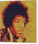 Jimi Pop Icon Wood Print