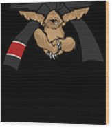 Jiu Jitsu Bjj Sloth Black Belt Light Wood Print