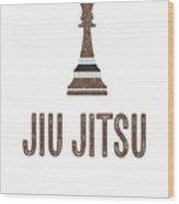Jiu Jitsu Chess Brown Belt Brazilian Bjj Dark Wood Print