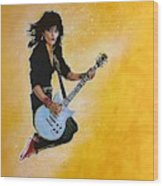 Joan Jett Wood Print
