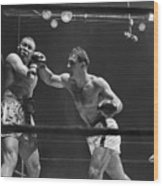Joe Louis And Rocky Marciano Boxing Wood Print
