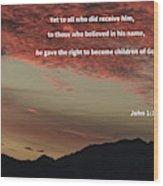 John 12 Wood Print