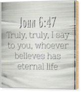 John 6 47 Wood Print