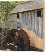 John Cable Mill In Cades Cove Historic Area In Smoky Mountains Wood Print