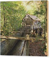 John Cable Mill In Cades Cove Historic Area In The Smoky Mountains Wood Print