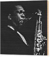 John Coltrane In Paris, France In 1960 - Wood Print