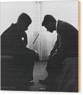 John Kennedy Confers With Robert Kennedy Wood Print