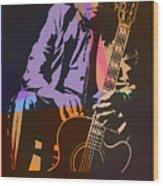 John Lee Hooker Pop Art Wood Print