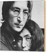 John Lennon And Yoko Ono Wood Print