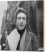 John Lennon Returning From Florist Shop Wood Print