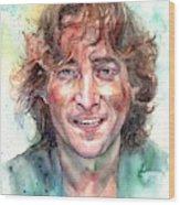 John Lennon Smiling Wood Print