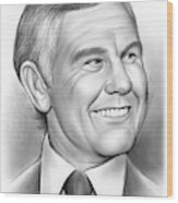 Johnny Carson 14sep18 Wood Print