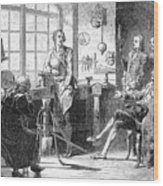 Joseph Black Visiting James Watt Wood Print