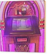 Jukebox Hero Wood Print