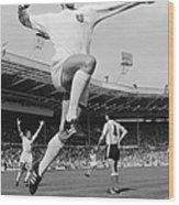 Jumping Geoff Wood Print