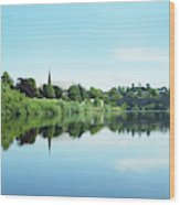Junction Pool And View Of Tweed At Kelso Wood Print