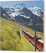 Jungfraubahn, Swiss Alps Wood Print