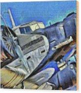 Junkers Ju 52 Art Wood Print