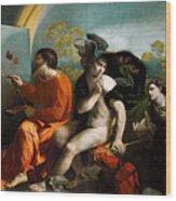 Jupiter  Mercury And Virtus Or Virgo  Wood Print