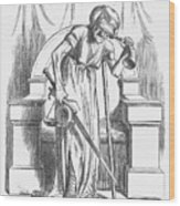 Justice - For Ireland, 1866. Artist Wood Print