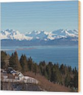Kachemak Bay And Homer Alaska Wood Print
