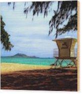 Kailua Beach Wood Print