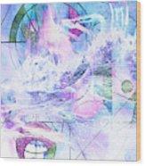 Kaleidoscope Sea Wood Print