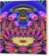 Kaleidoscopic Krystal Ball Wood Print