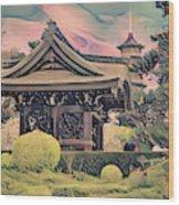 Kanagawa - The Japanese Garden Wood Print