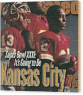 Kansas City Chiefs, 1996 Nfl Football Preview Issue Sports Illustrated Cover Wood Print