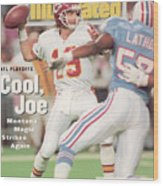 Kansas City Chiefs Qb Joe Montana, 1994 Afc Championship Sports Illustrated Cover Wood Print