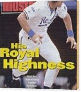 Kansas City Royals George Brett... Sports Illustrated Cover Wood Print