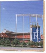 Kauffman Stadium Wood Print