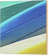 Kayak Angles And Colors Abstract II Wood Print