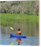 Kayaker In The Wild Wood Print