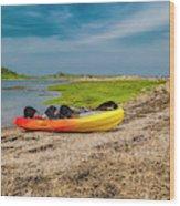 Kayaking Adventure In Maine Wood Print