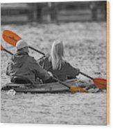 Kayaking Along The Magothy Wood Print