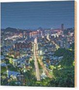 Keelung City Skyline Wood Print