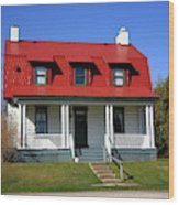 Keeper's House - Presque Isle Light Michigan Wood Print