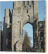 Kelso Abbey Ruin Wood Print