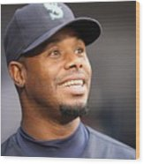 Ken Griffey Jr. Retires From Seattle Wood Print