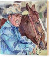 Kevin Costner Portrait Wood Print