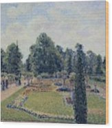 Kew Gardens - Path Between The Pond And The Palm House, 1892 Wood Print