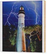 Key West Lighthouse Wood Print