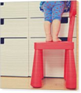 Kids Safety Concept- Little Girl Wood Print