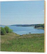 Kielder Water In Northumberland Wood Print