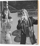 Kiki Dee And Elton John Performing Wood Print