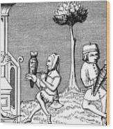 King Modus Teaching The Art Wood Print