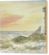 Kingdom By The Sea Wood Print