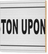 Kingston Upon Hull City Nameplate Wood Print